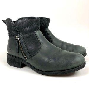 UGG Boots Lavelle 1013366 Moto Style Lug Sole 10